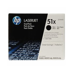 HP Toner 51X schwarz Doppelpackung (Q7551XD)