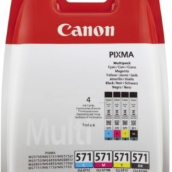 Canon CLI-571 Tinte Multipack schwarz/farbig inkl. PP-201 (0386C005/0386C006)
