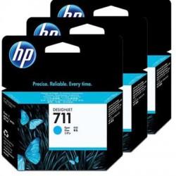 HP 711 Tinte cyan, 3er-Pack (CZ134A)