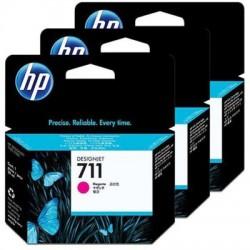 HP 711 Tinte magenta, 3er-Pack (CZ135A)