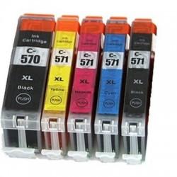 Tintenpatrone kompatibel zu Canon PGI-570/CLI-571 XL C/M/Y mit Chip Multipack