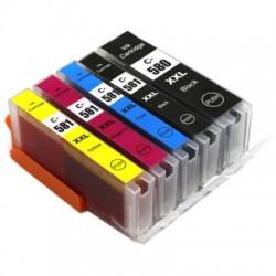 Kompatible Tinten zu PGI-580PGBK XXL/CLI-581 XXL Multipack