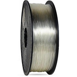 3D filament 1,75 mm TPU+TPE rubber gummi transparent 1000g 1kg