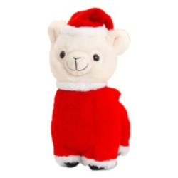 Plüsch Llama als Weihnachtsmann verkleidet 20cm