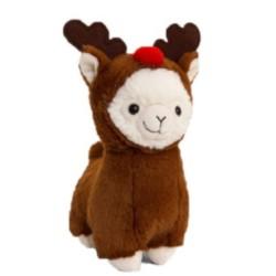 Plüsch Llama als Rentier verkleidet 20cm