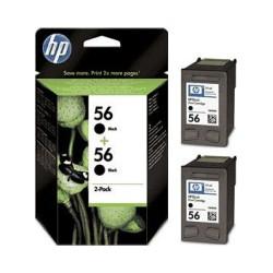 HP Druckkopf mit Tinte Nr 56 schwarz, 2er Pack (C9502AE)