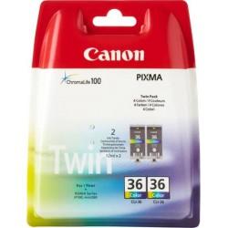 Canon Tinte CLI-36 dreifarbig, 2er-Pack (1511B018)