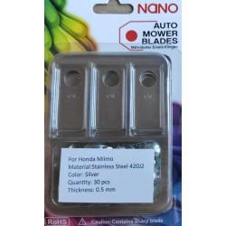 nano 30 Stk Stahl Ersatzklingen Ersatzmesser für Honda Miimo 310 / 520 / 3000 Modelle