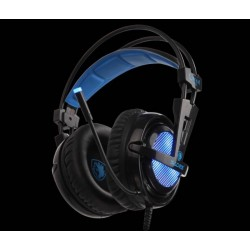 Sades Locust Plus Gamer Headset blau